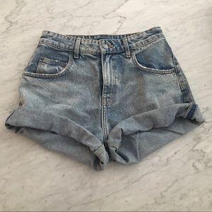 High waist denim shorts 24